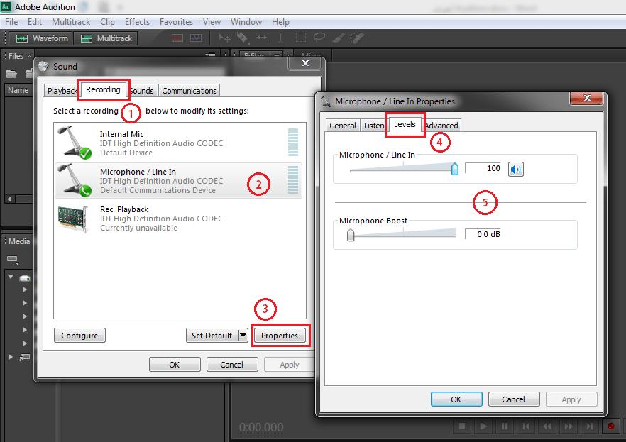 ضبط کردن صدا با نرم افزار Adobe Audition