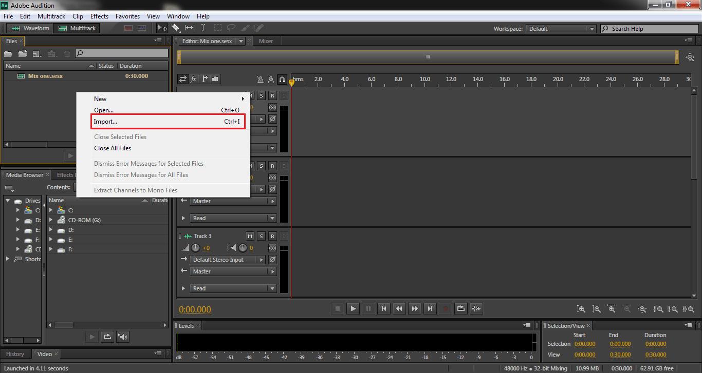 حذف نویز از صدا با نرم افزار Adobe Audition